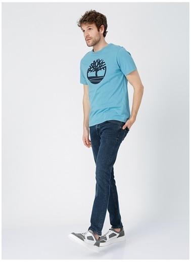 Timberland Timberland Erkek Mavi Bisiklet Yaka T-Shirt Mavi